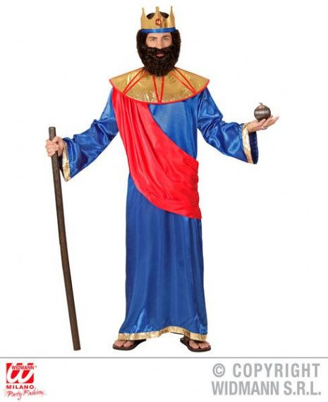 Adult Biblical King - Blue Costume Christmas Fancy Dress